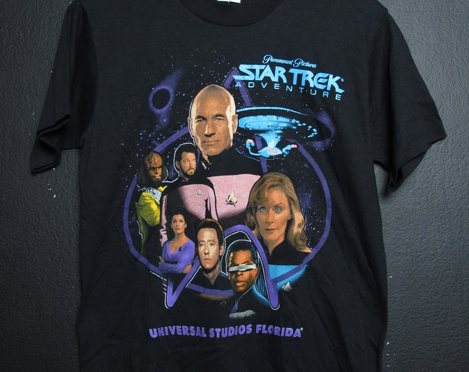 Star Trek Adventure Universal Studios 1990's Vintage Tshirt