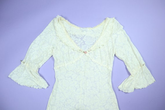 Claire Pettibone Lace Wedding 1990's Vintage Dress - image 1