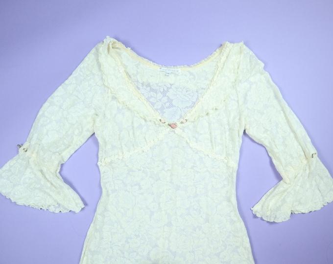 Claire Pettibone Lace Wedding 1990's Vintage Dress