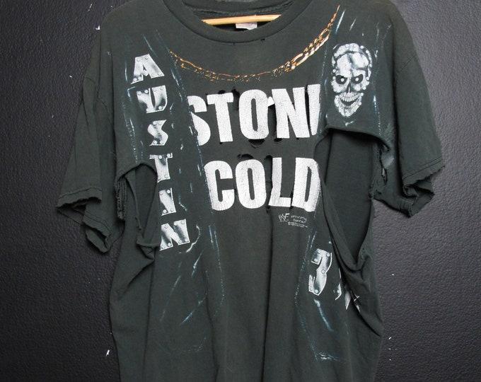 Stone Cold Steve Austin 3:16  WWE WWF Wrestling 1990's Vintage Tshirt