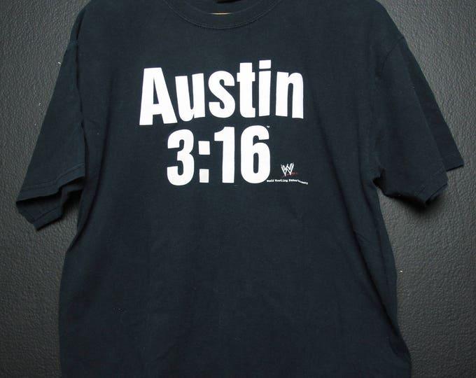 Stone Cold Steve Austin 3:16  WWE WWF Wrestling Vintage Tshirt
