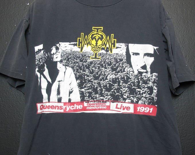 Queensryche Operation Mindcrime Live 1991 vintage Tshirt