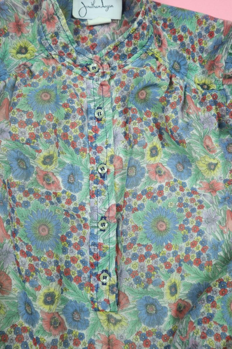 Jonathan Logan Floral 1970s Vintage Dress