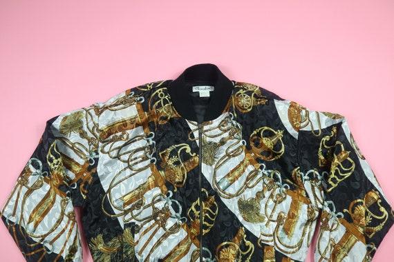 Chardin Chanel Inspired Swords 1990's Vintage Silk