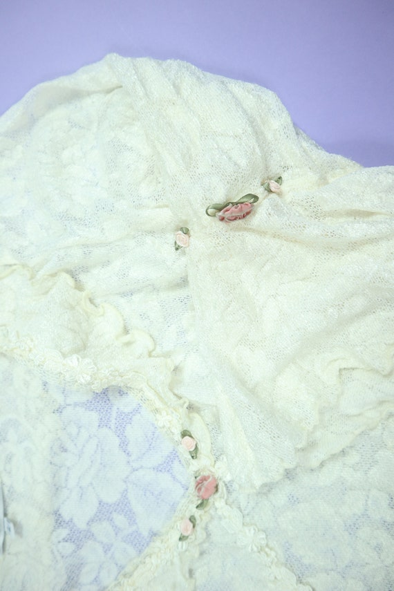Claire Pettibone Lace Wedding 1990's Vintage Dress - image 5