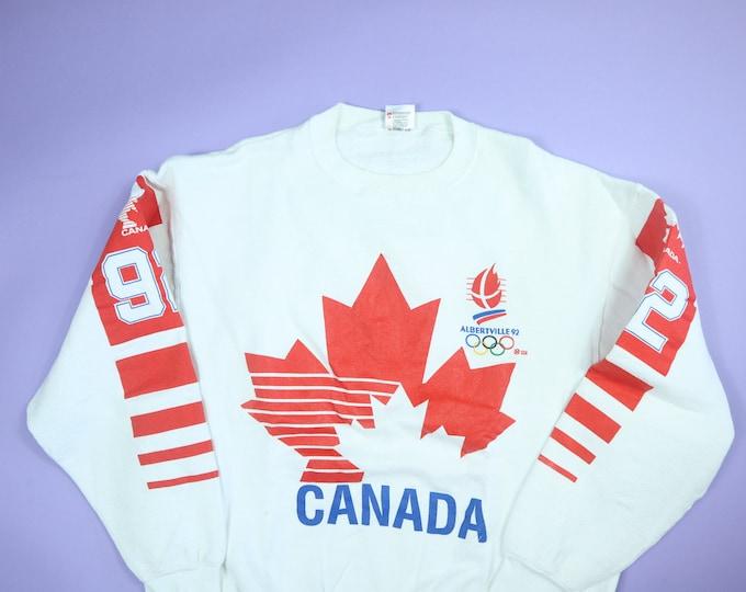 Canadian Olympic Team Albertville 1990's Vintage Sweatshirt
