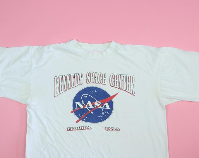 NASA Kennedy Space Center Florida 1990s Vintage Tshirt