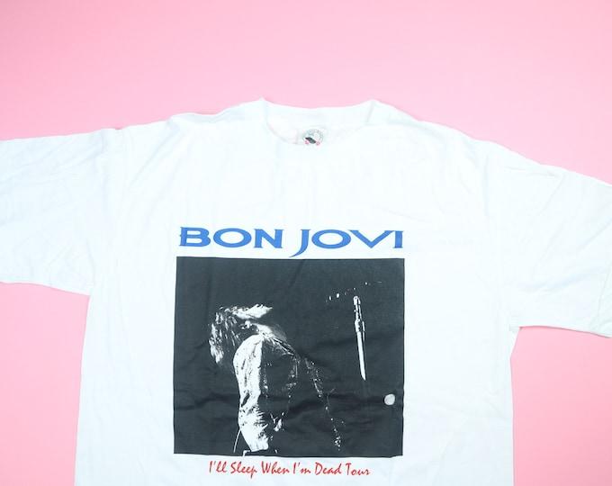 Bon Jovi I'll Sleep When I'm Dead tour 1993 vintage Tshirt