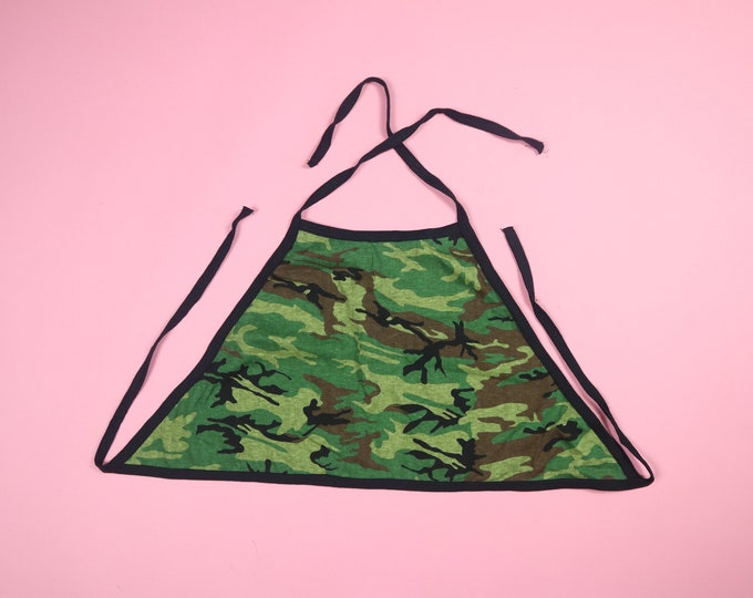 Camouflage Army 2000s Y2K Tie Halter Top