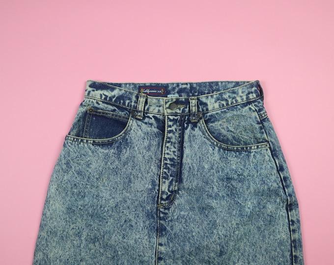 Acid Wash Denim 1990's Vintage Skirt