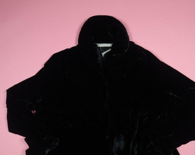 Taryn De Chellis Black Velvet Vintage Coat