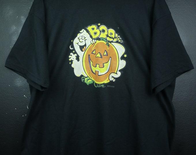 Halloween BOO Ghost Pumpkin 1990s vintage Tshirt