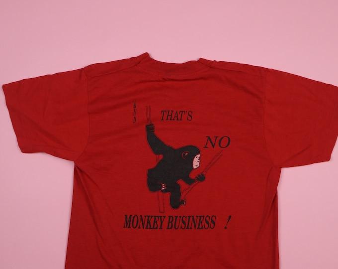I Sponsored an Animal... That's No Monkey Business 1990's Vintage Tshirt