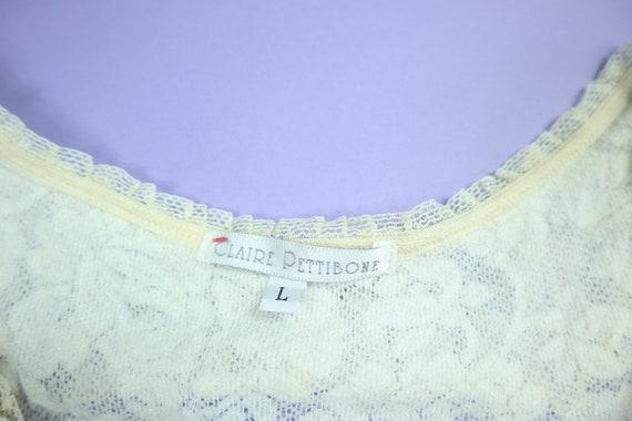 Claire Pettibone Lace Wedding 1990's Vintage Dress - image 4