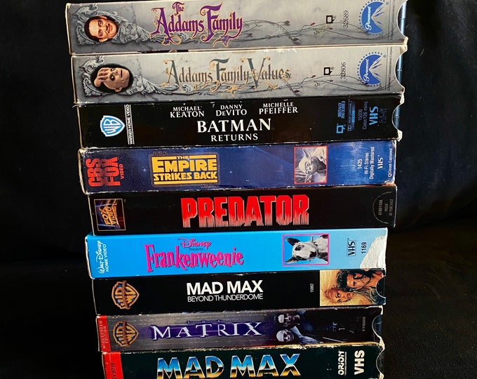 Choose One Or More! 1980's 1990's Vintage Movie VHS
