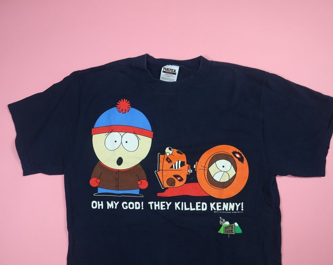 South Park Oh My God! They Killed Kenny! 1990s Vintage Tshirt