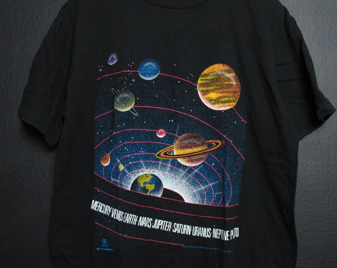 Planets Space Constellations 1992 Vintage Tshirt
