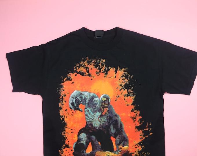 Venom & Spiderman Marvel Zombies Mad Enngine comic 1990s Vintage Tshirt