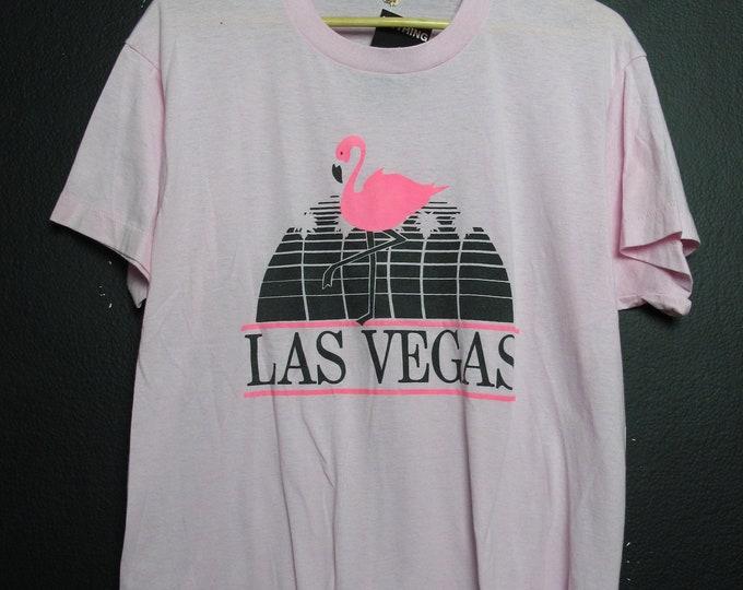 Las Vegas Nevada Flamingos 1990's Vintage Tshirt