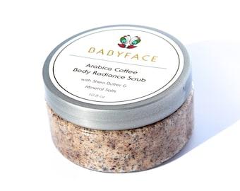 Babyface Arabica Coffee Body Scrub with Shea Butter, 10.8 oz.