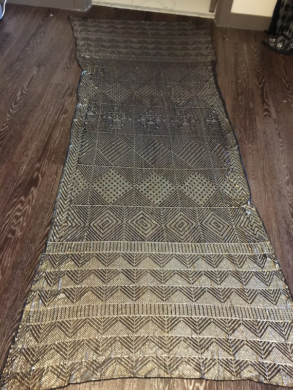 Fascinating Egyptian Vintage Assuit  Piano Shawl 1