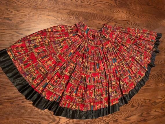 Egyptian Hieroglyphs  Vintage 15+ Yard skirt  ATS/