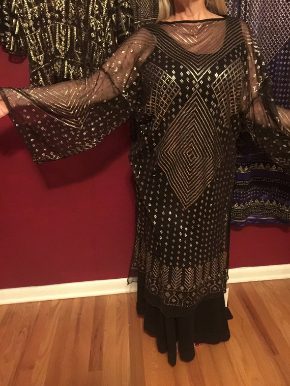 1920s Egyptian Revival Dress ASSUIT DRESS!   Art D