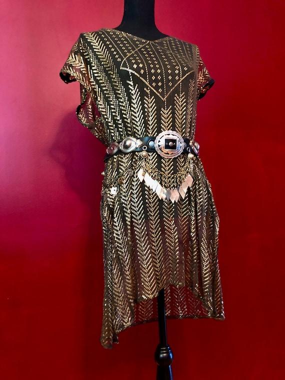 1928  Gray Egyptian Vintage Assuit Tunic/Dress wit