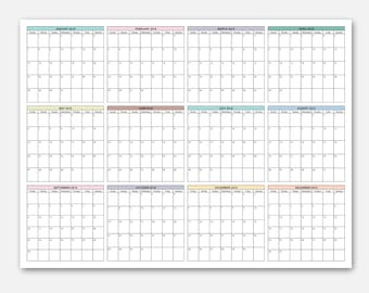 2018 18x24 wall calendar 2018 calendar at a glance calendar at a glance planner year at a glance calendar yearly planner 2018