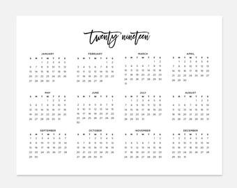 2019 simple calendar 2019 landscape calendar 2019 calendar 2019 year calendar 2019 at a glance calendar 2019 planner 2019 calendars