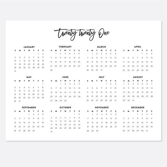 8 5x11 printable calendar 2021 letter calendar 2021 year etsy 8 5x11 printable calendar 2021 letter calendar 2021 year calendar 2021 calendars 2021 year planner printable calendar 2021 at a glance
