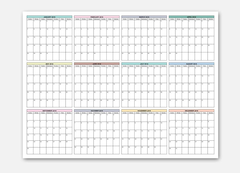 2018 18x24 Wall Calendar 2018 Calendar At a Glance