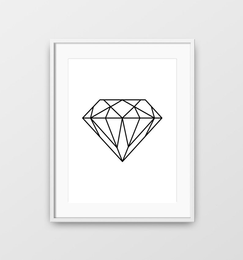 picture about Diamond Printable titled Diamond, Minimalist Wall Artwork, Geometric Print, Printable Wall Artwork, Revolutionary Artwork, Diamond Condition, Minimalist Wall Artwork, Geometric Diamond, Print