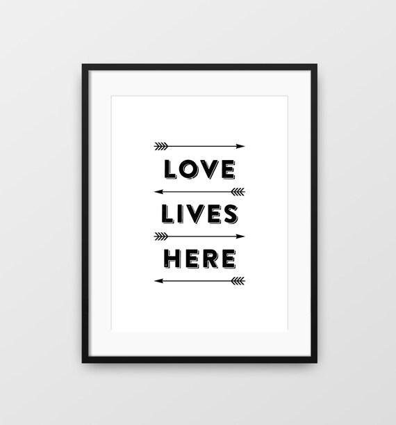 Cytat Miłość Print Miłość Do Druku Strzałki Drukować Nowoczesne Sztuki ścienne Cytat Miłości Typografia Grafika Miłość Drukuj Miłość Sztuka
