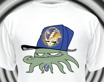da11f27c4d8 Squidbillies - Early Cuyler Stealie Hat - Grateful Dead Squid - T-shirt