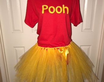 46f5ae41f271 Pooh piglet tigger eyeeore disney bound tutu halloween costume cos play  cosplay shirt or set girl adult or child custom made
