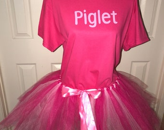 30f0f6c3b80d Piglet Pooh tigger eyeeore disney bound tutu halloween costume cos play  cosplay shirt or set girl adult or child custom made