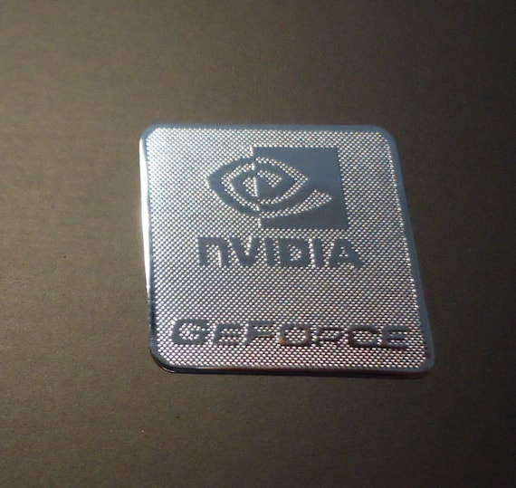 NVIDIA Decals Stickers Metallic Chrome Effect logo die cut best giftsS