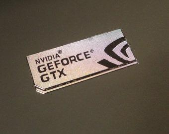Graphics nVidia GeForce GTX Label / Aufkleber / Sticker / Logo 35x15mm [209c]