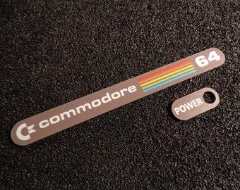 Commodore C64 Label / Aufkleber / Sticker / Badge / Logo 11cm x 1,1cm [241d]