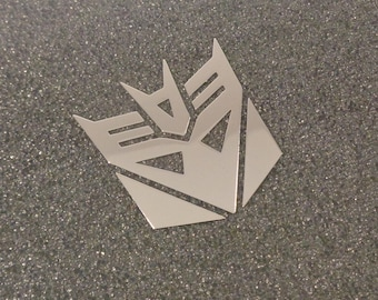 Transformers Decepticon Label / Aufkleber / Sticker / Badge / Logo 30x32 mm [446b]
