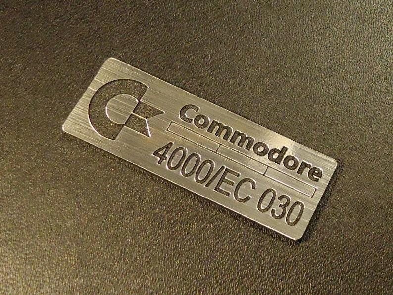 271 Sticker Commodore Amiga 4000 030 Label Logo Badge 42 x 15 mm