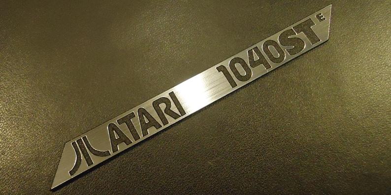Atari 1040 STE Label / Logo / Sticker / Badge brushed aluminum image 0