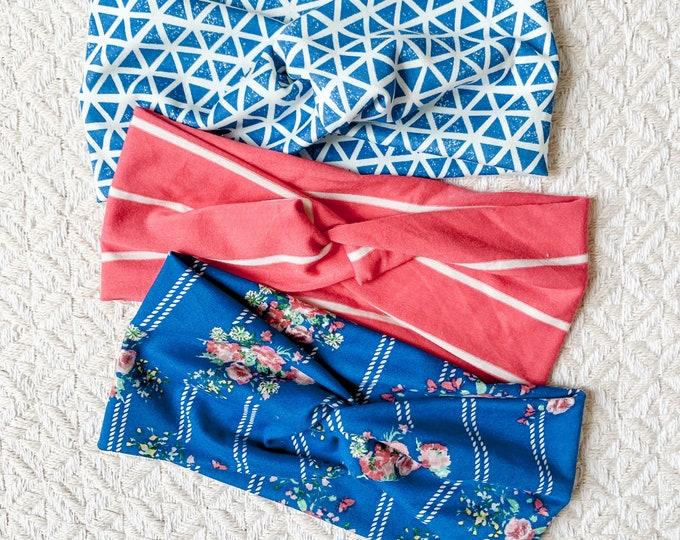 Blue Coral Headband Set