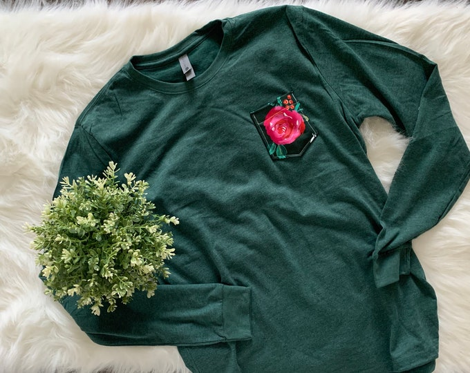 Green and Red Floral Tee