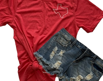 Katy High School Tee | Red + White Texas Tee