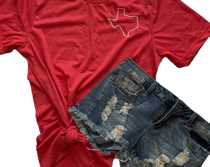 Katy High School Tee | Red + White Texas Tee