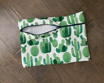 Green Cactus Wetbag
