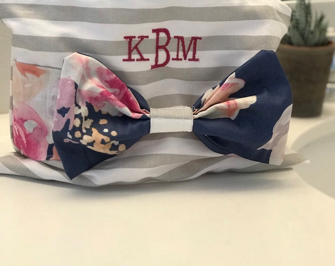 Cosmetic Bag with Bow
