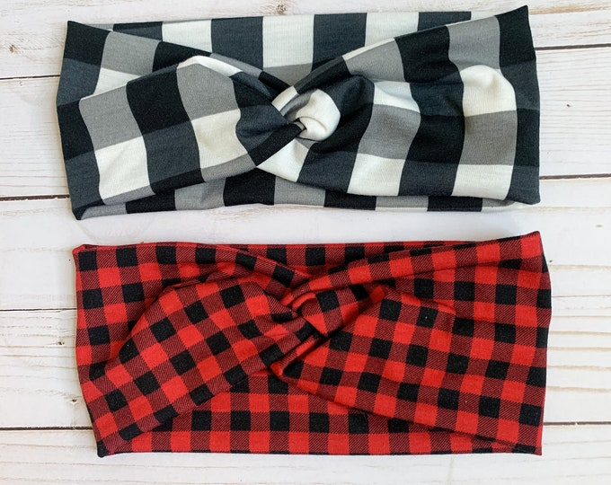 Buffalo Plaid Turban
